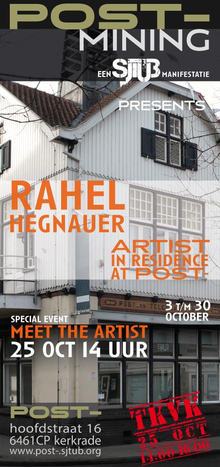 rahel hegnauer, artist in residence